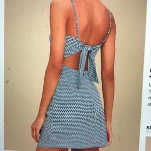 Lulu's print tie-back dress